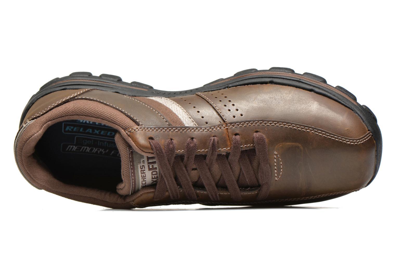 Sneaker Skechers Braver Alfano 64529 braun ansicht von links