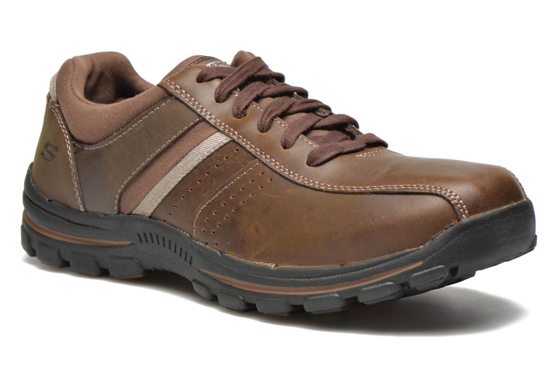 Sneakers Skechers Braver Alfano 64529 Brun detaljerad bild på paret