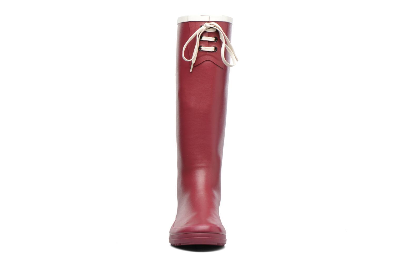Bottes Aigle Miss Marion Rouge vue portées chaussures