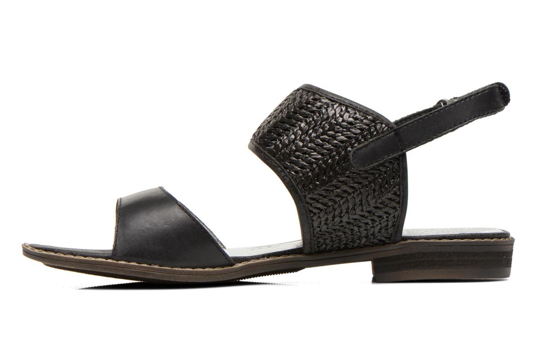 Sandales et nu-pieds Madison Rubane Noir vue face