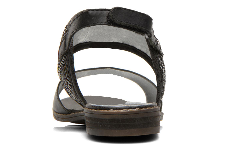 Sandales et nu-pieds Madison Rubane Noir vue droite