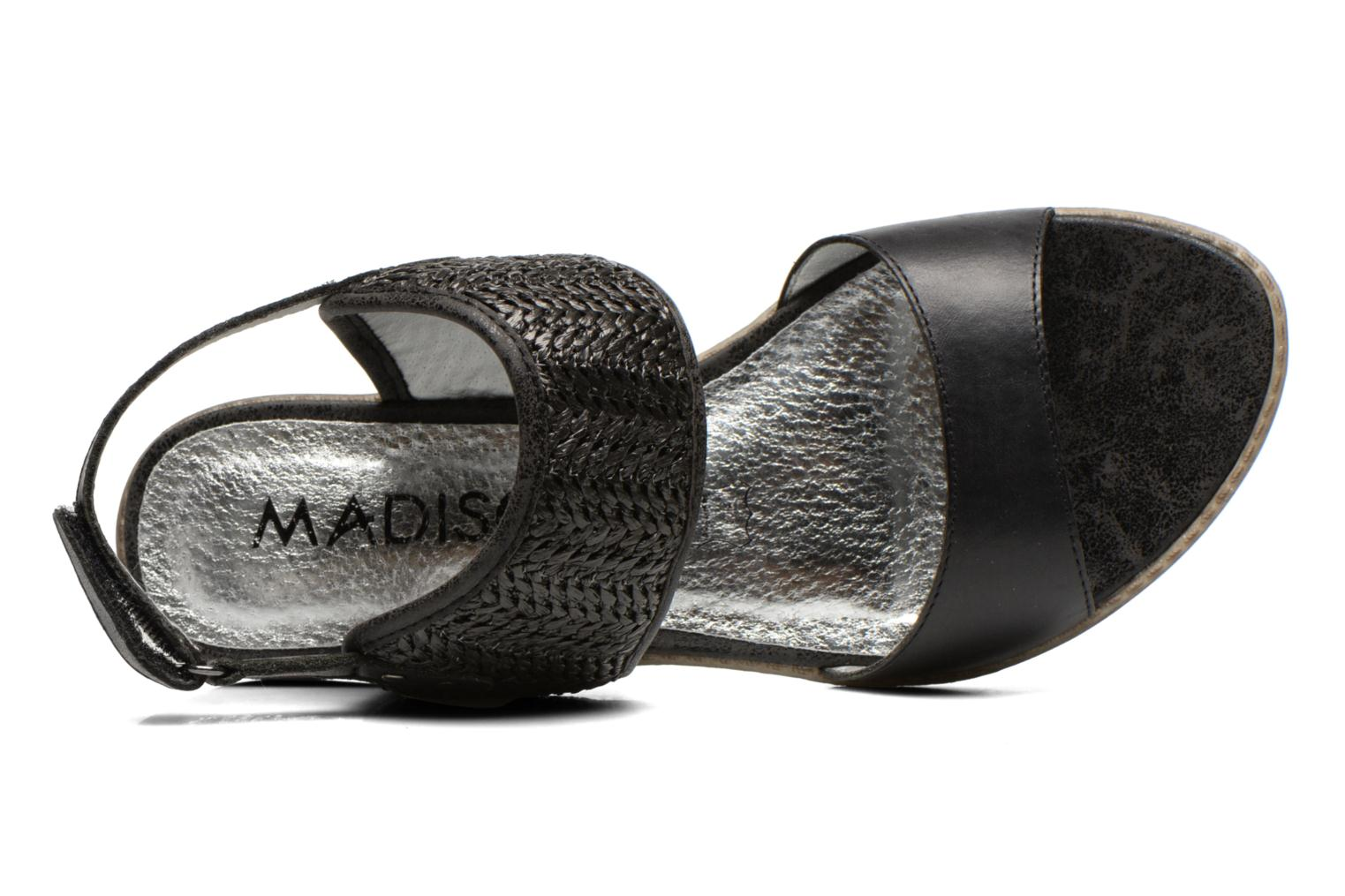 Sandals Madison Rubane Black view from the left