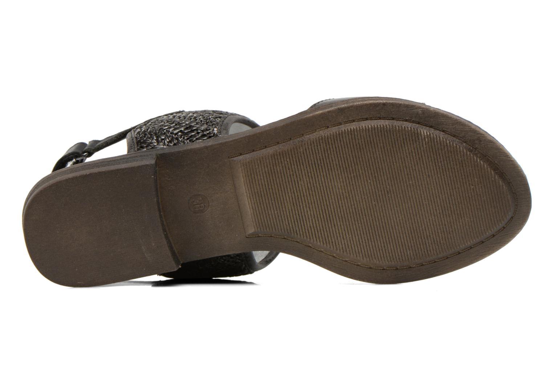 Sandales et nu-pieds Madison Rubane Noir vue haut