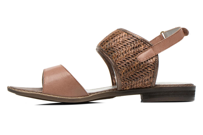 Sandales et nu-pieds Madison Rubane Marron vue face