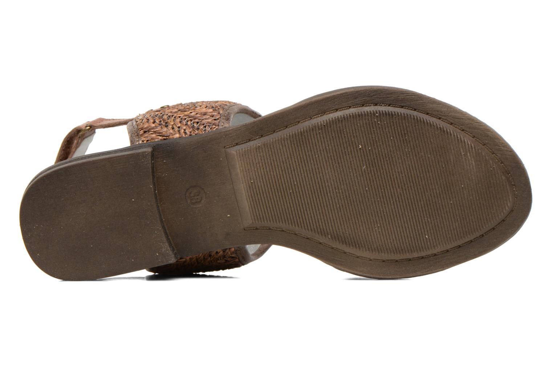 Sandales et nu-pieds Madison Rubane Marron vue haut