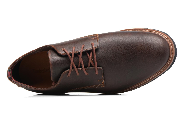 Chaussures à lacets Timberland Brook Park Oxford Marron vue gauche