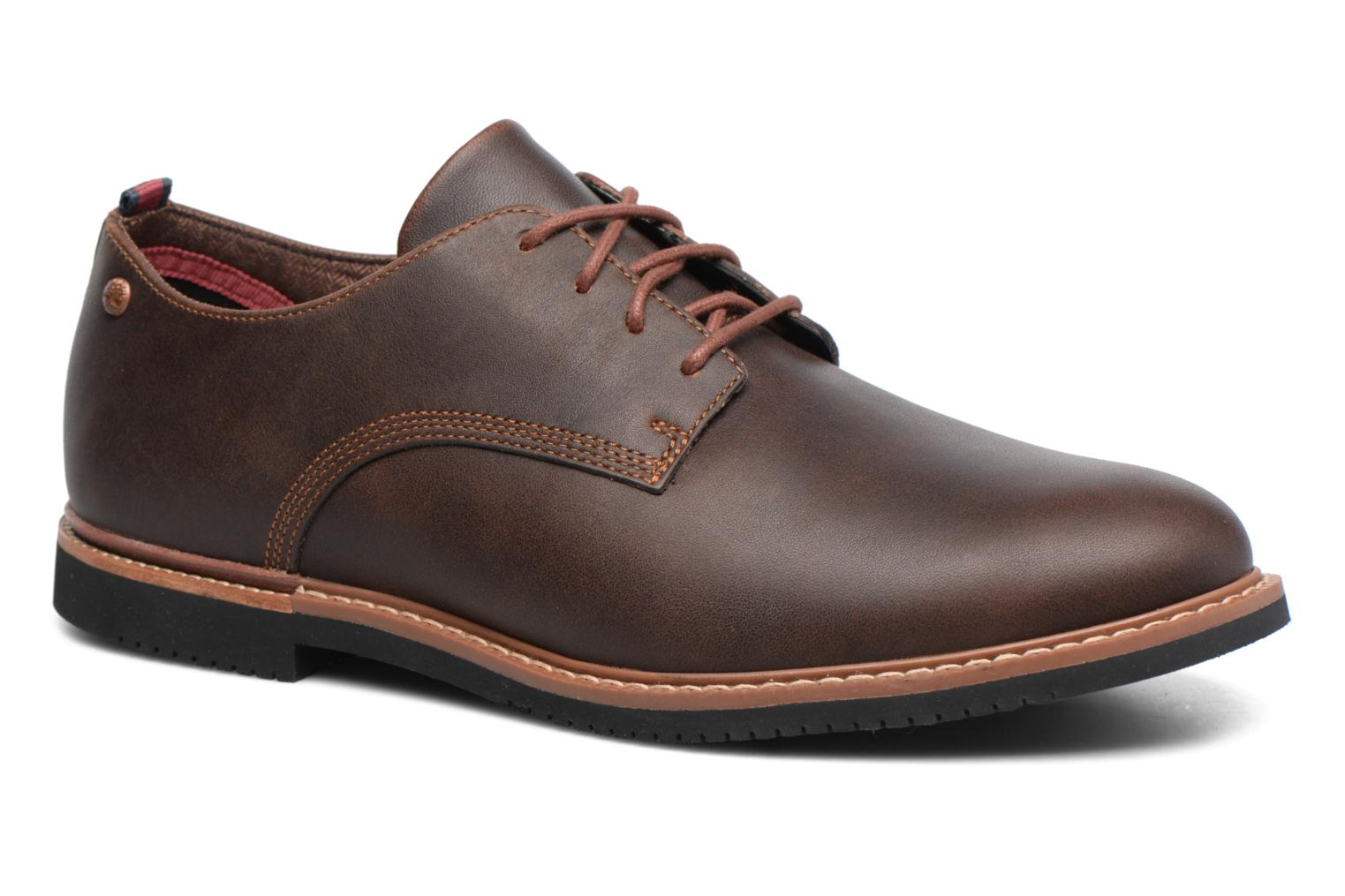 Lace-up shoes Timberland Brook Park Oxford Brown detailed view/ Pair view