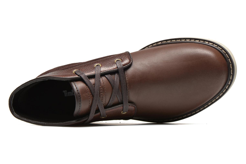Scarpe con lacci Timberland Newmarket Chukka Marrone immagine sinistra