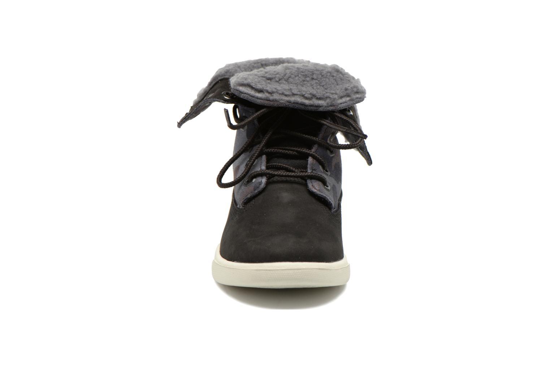 Bottines et boots Timberland GIRLS DEERING FOLD D Noir vue portées chaussures
