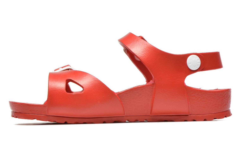 Sandales et nu-pieds Birkenstock Rio EVA Rouge vue face