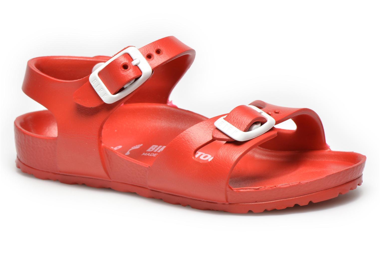 Sandales et nu-pieds Birkenstock Rio EVA Rouge vue détail/paire