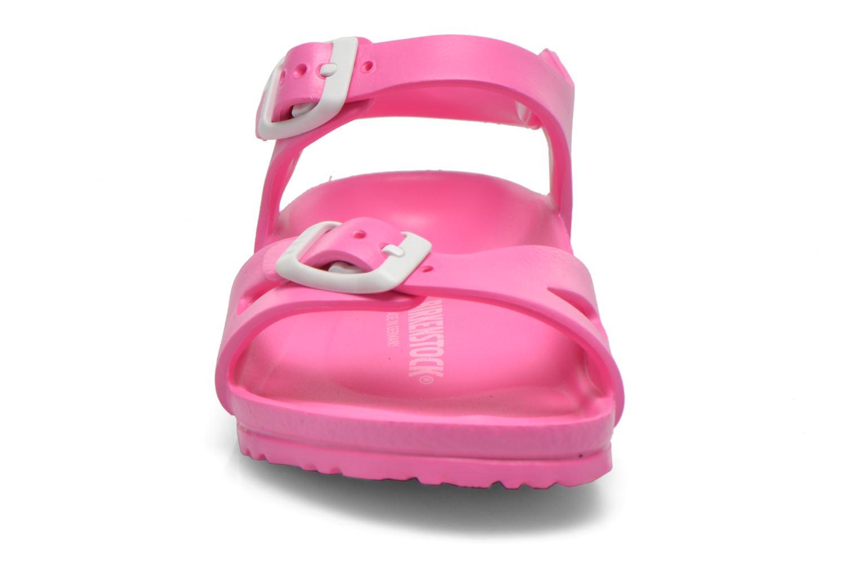 Sandalen Birkenstock Rio EVA rosa schuhe getragen
