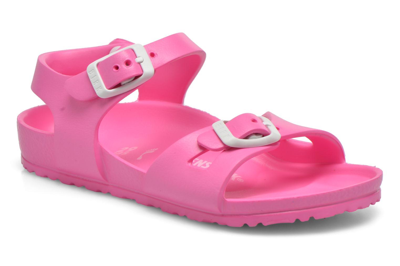 Sandals Birkenstock Rio EVA Pink detailed view/ Pair view
