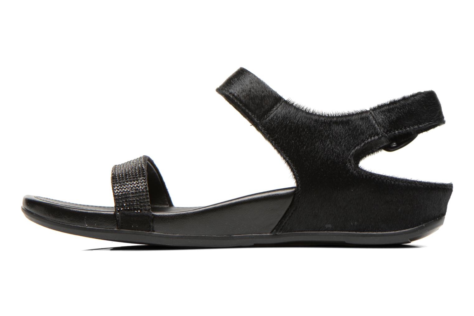 Sandals FitFlop Banda Micro C Black front view