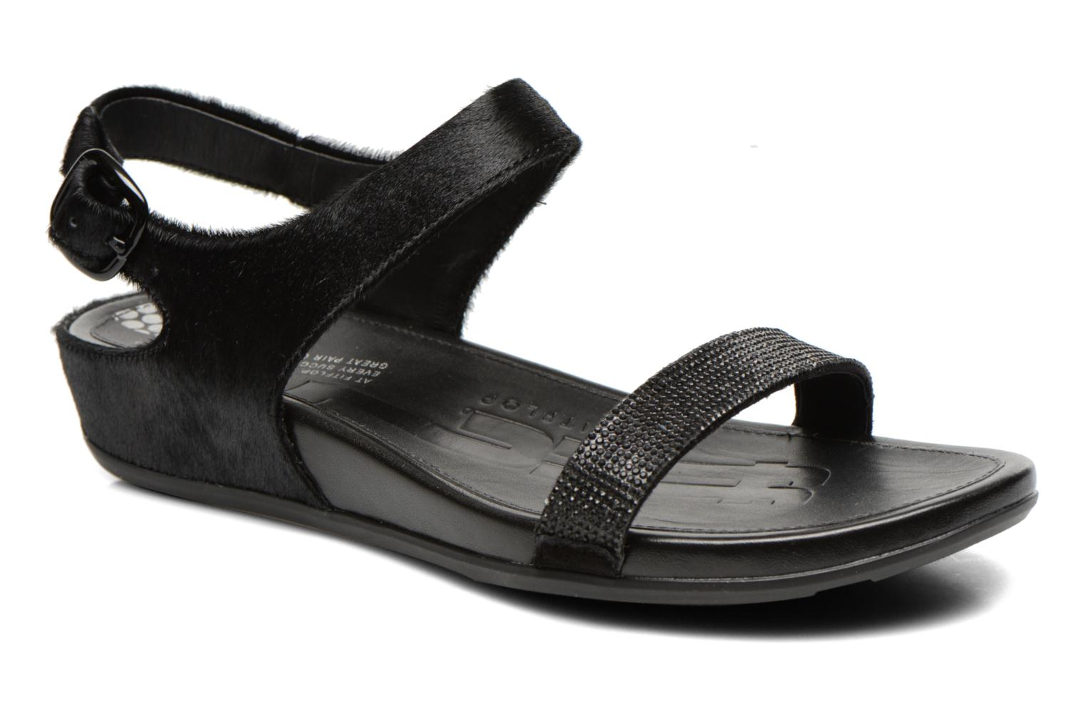 Sandals FitFlop Banda Micro C Black detailed view/ Pair view