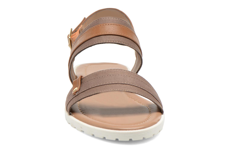 Sandales et nu-pieds I Love Shoes Subandi Marron vue portées chaussures
