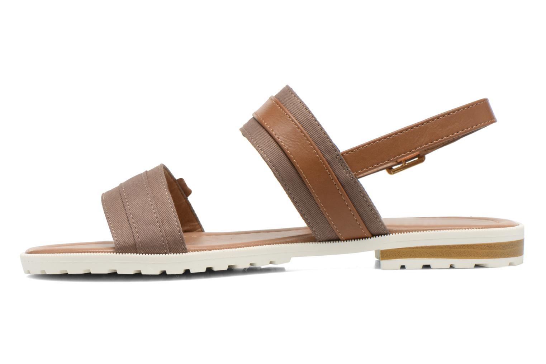 Sandales et nu-pieds I Love Shoes Subandi Marron vue face