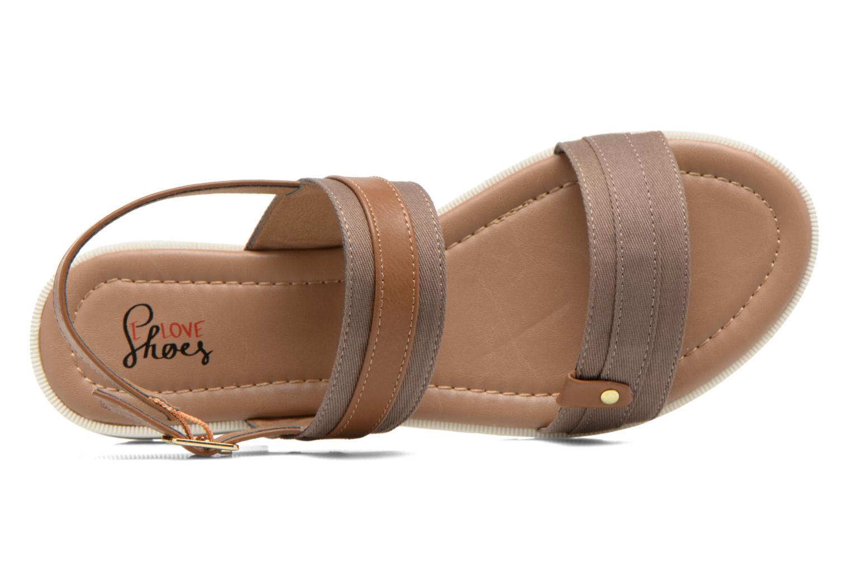 Sandales et nu-pieds I Love Shoes Subandi Marron vue gauche