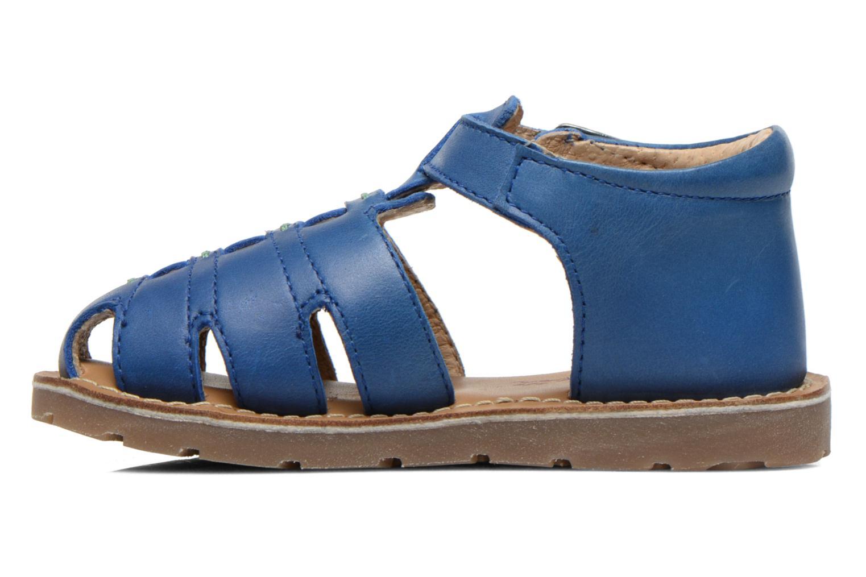 Sandales et nu-pieds Aster Ely Bleu vue face