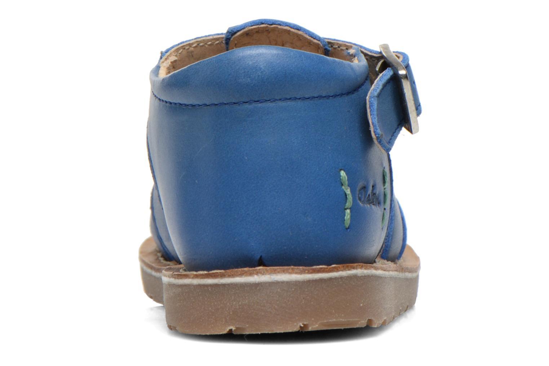 Sandales et nu-pieds Aster Ely Bleu vue droite