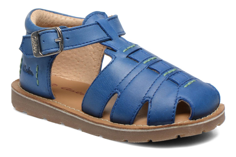 Sandales et nu-pieds Aster Ely Bleu vue détail/paire