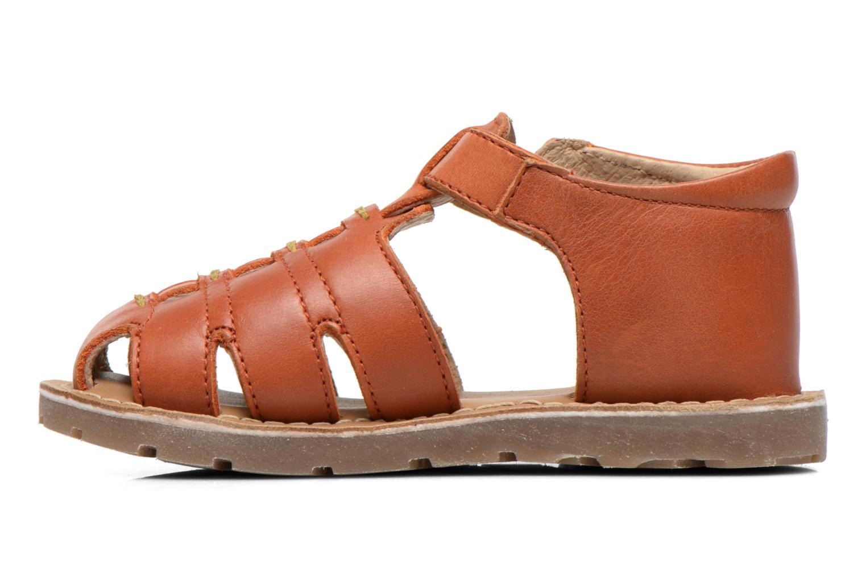 Sandales et nu-pieds Aster Ely Orange vue face