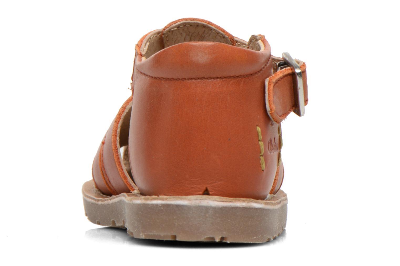 Sandales et nu-pieds Aster Ely Orange vue droite