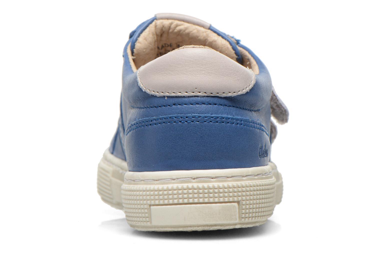 Chaussures à scratch Aster Caleb Bleu vue droite