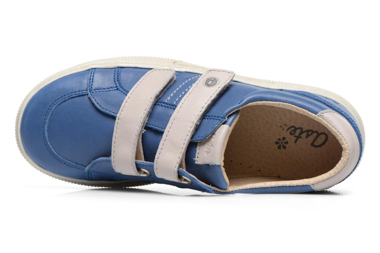Chaussures à scratch Aster Caleb Bleu vue gauche