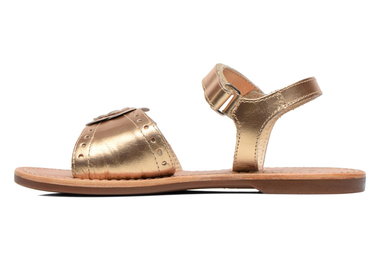 Sandales et nu-pieds Aster Verdiane Or et bronze vue face