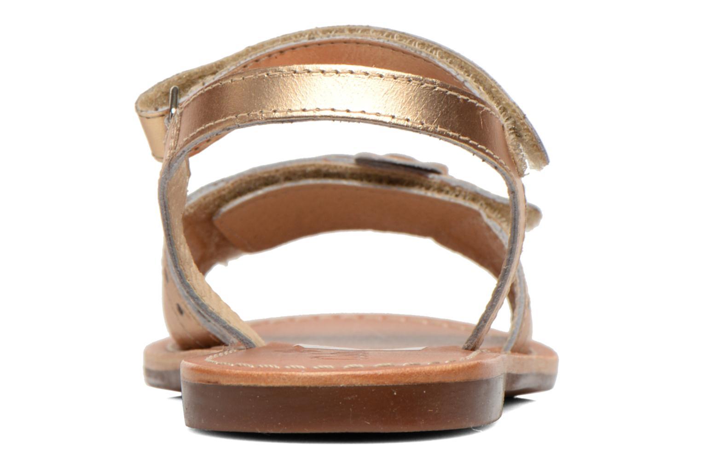 Sandales et nu-pieds Aster Verdiane Or et bronze vue droite