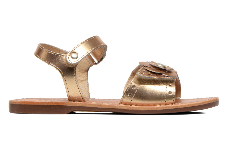 Sandales et nu-pieds Aster Verdiane Or et bronze vue derrière