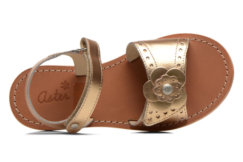 Sandales et nu-pieds Aster Verdiane Or et bronze vue gauche