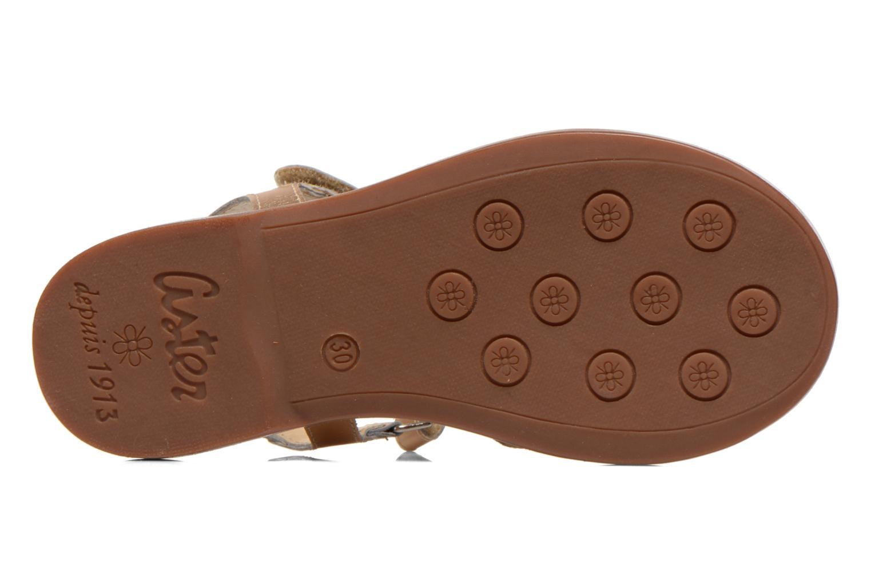 Sandales et nu-pieds Aster Verdiane Or et bronze vue haut