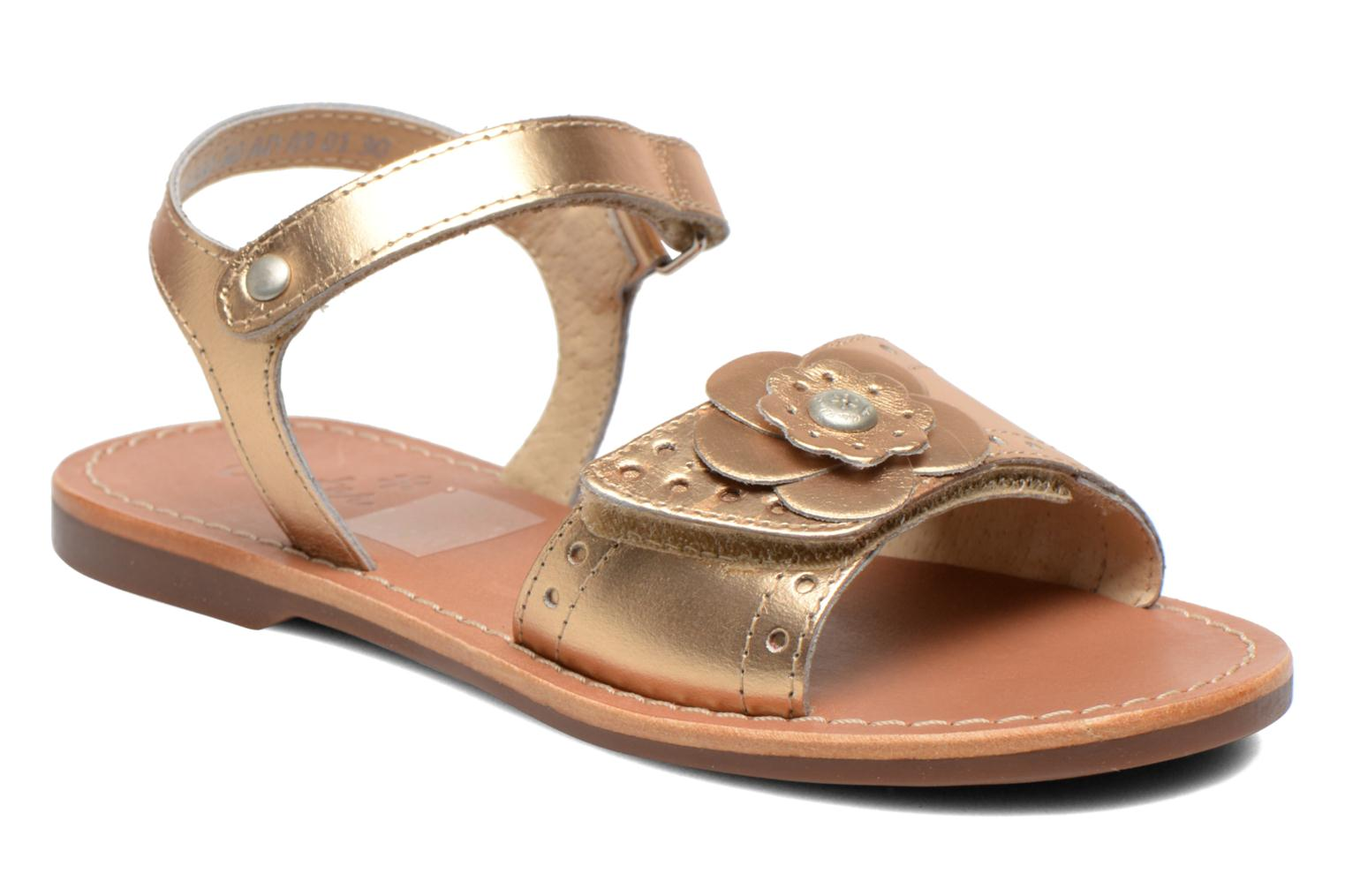 Sandals Aster Verdiane Bronze and Gold detailed view/ Pair view