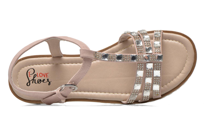 Sandalen I Love Shoes Sutrass rosa ansicht von links
