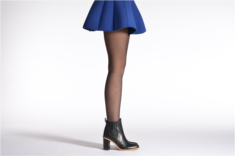 Chaussettes et collants Dim Collant DIAM'S VOILE GALBE Noir vue portées chaussures