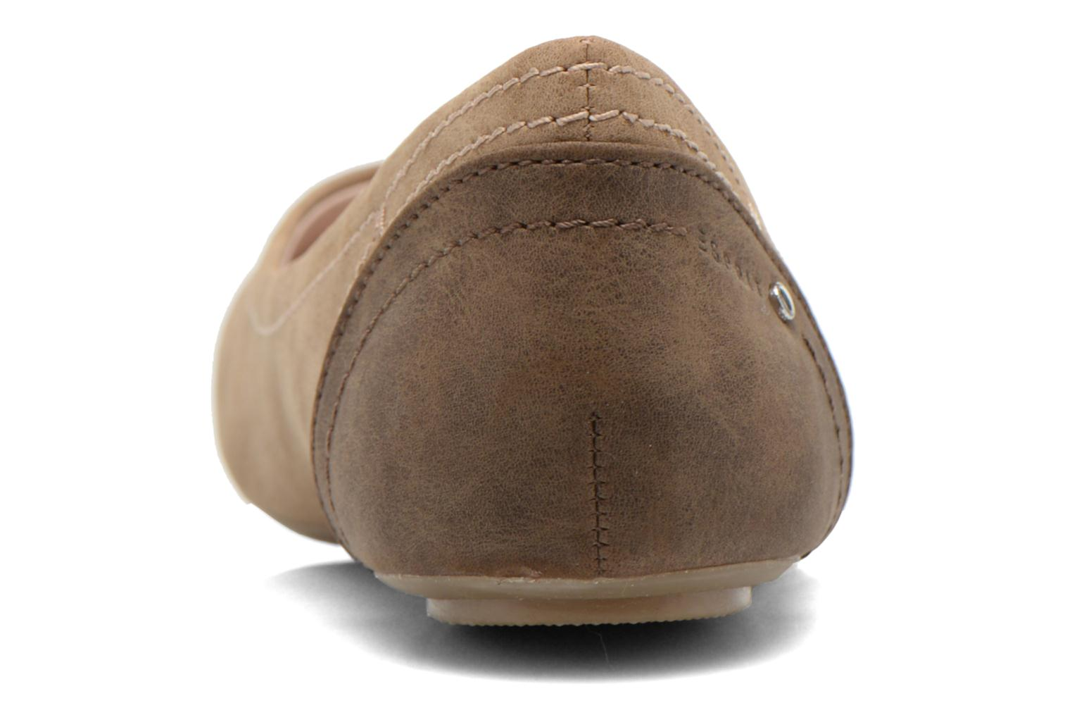 Ballet pumps Esprit Aloa Ballerina 1 Brown view from the right