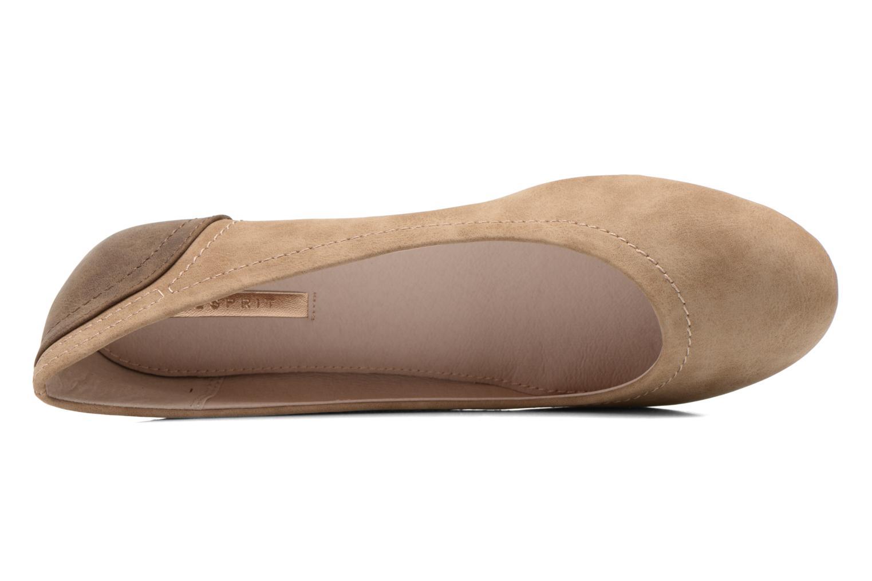 Ballerinas Esprit Aloa Ballerina 1 braun ansicht von links