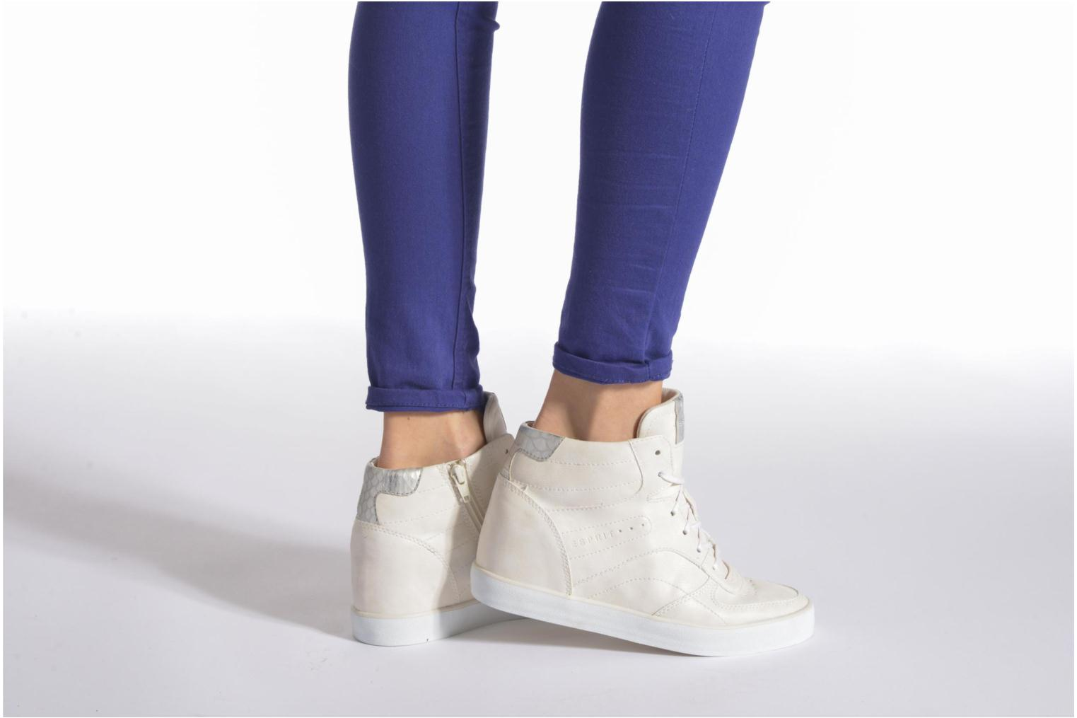 Baskets Esprit Start Wedge Casual Blanc vue bas / vue portée sac