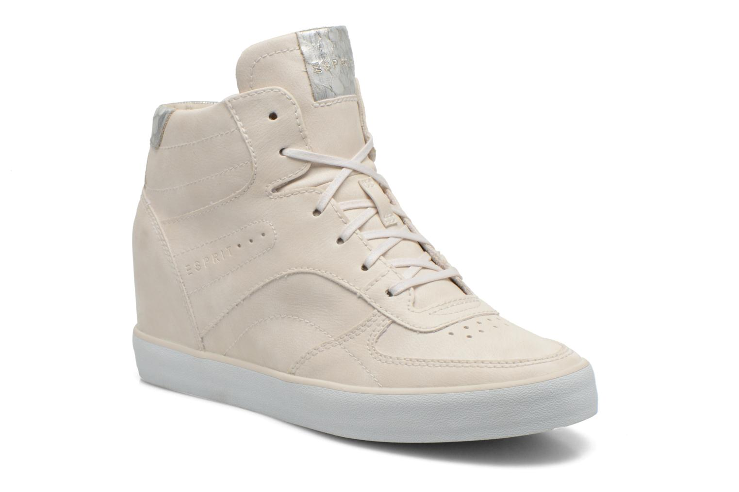 Baskets Esprit Start Wedge Casual Blanc vue détail/paire