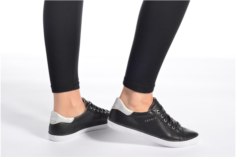 Sneaker Esprit Miana Lace Up schwarz ansicht von unten / tasche getragen