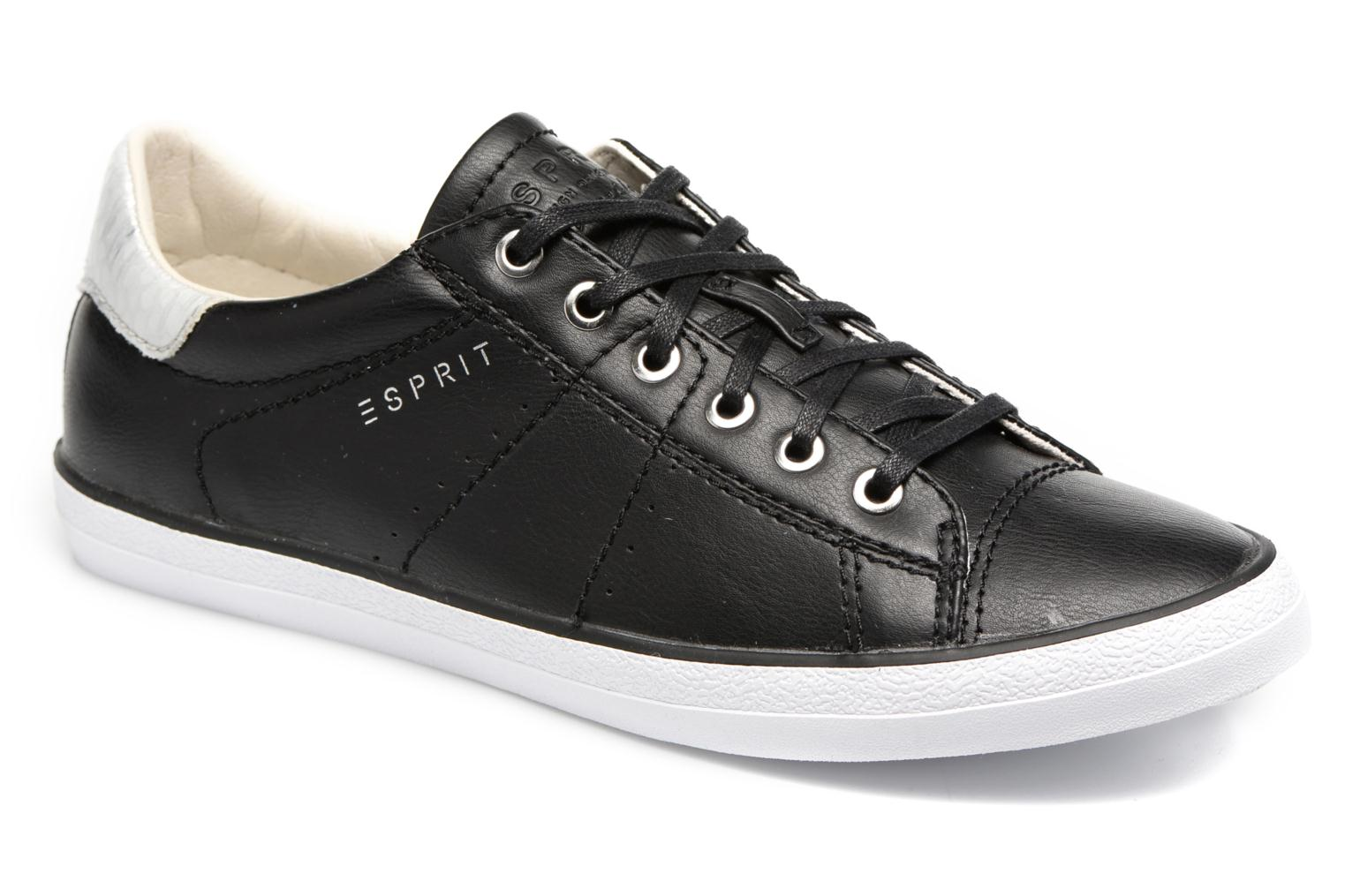 Trainers Esprit Miana Lace Up Black detailed view/ Pair view