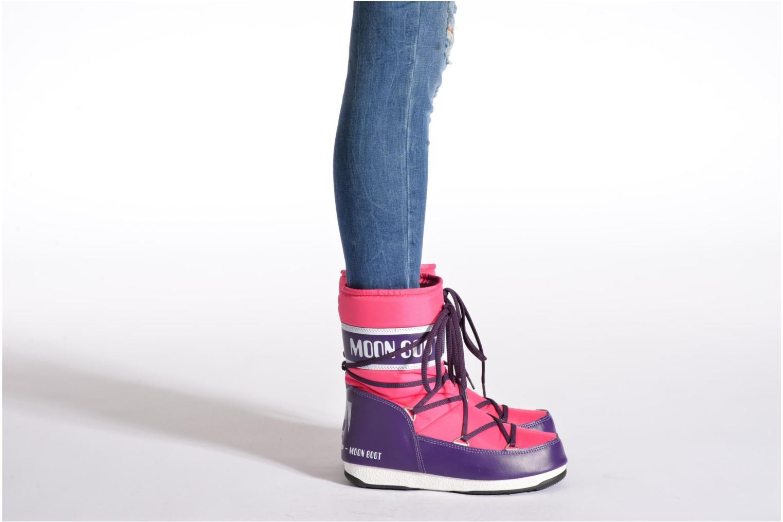 Chaussures de sport Moon Boot W.E Sport Mid Rose vue bas / vue portée sac