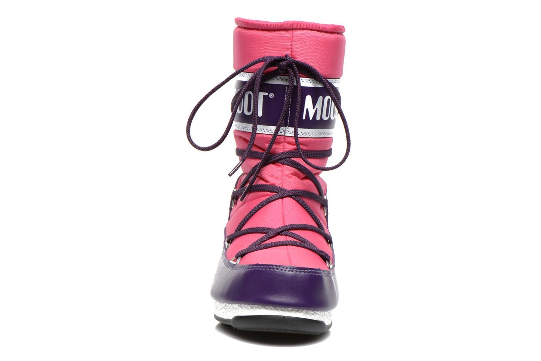 Chaussures de sport Moon Boot W.E Sport Mid Rose vue portées chaussures