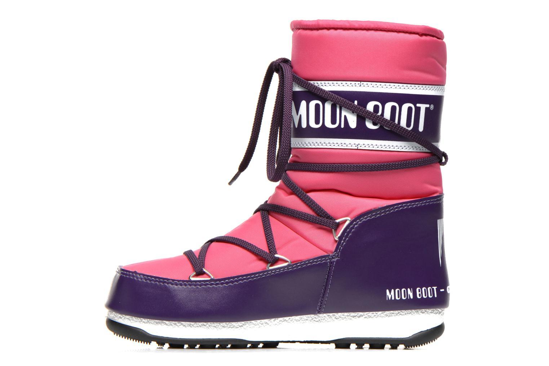 Chaussures de sport Moon Boot W.E Sport Mid Rose vue face