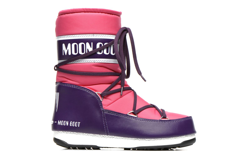 Chaussures de sport Moon Boot W.E Sport Mid Rose vue derrière