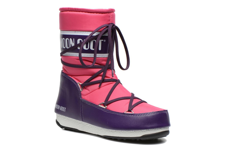 Chaussures de sport Moon Boot W.E Sport Mid Rose vue détail/paire
