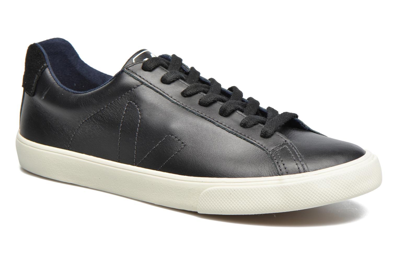 Baskets Veja Esplar Low Leather Noir vue détail/paire