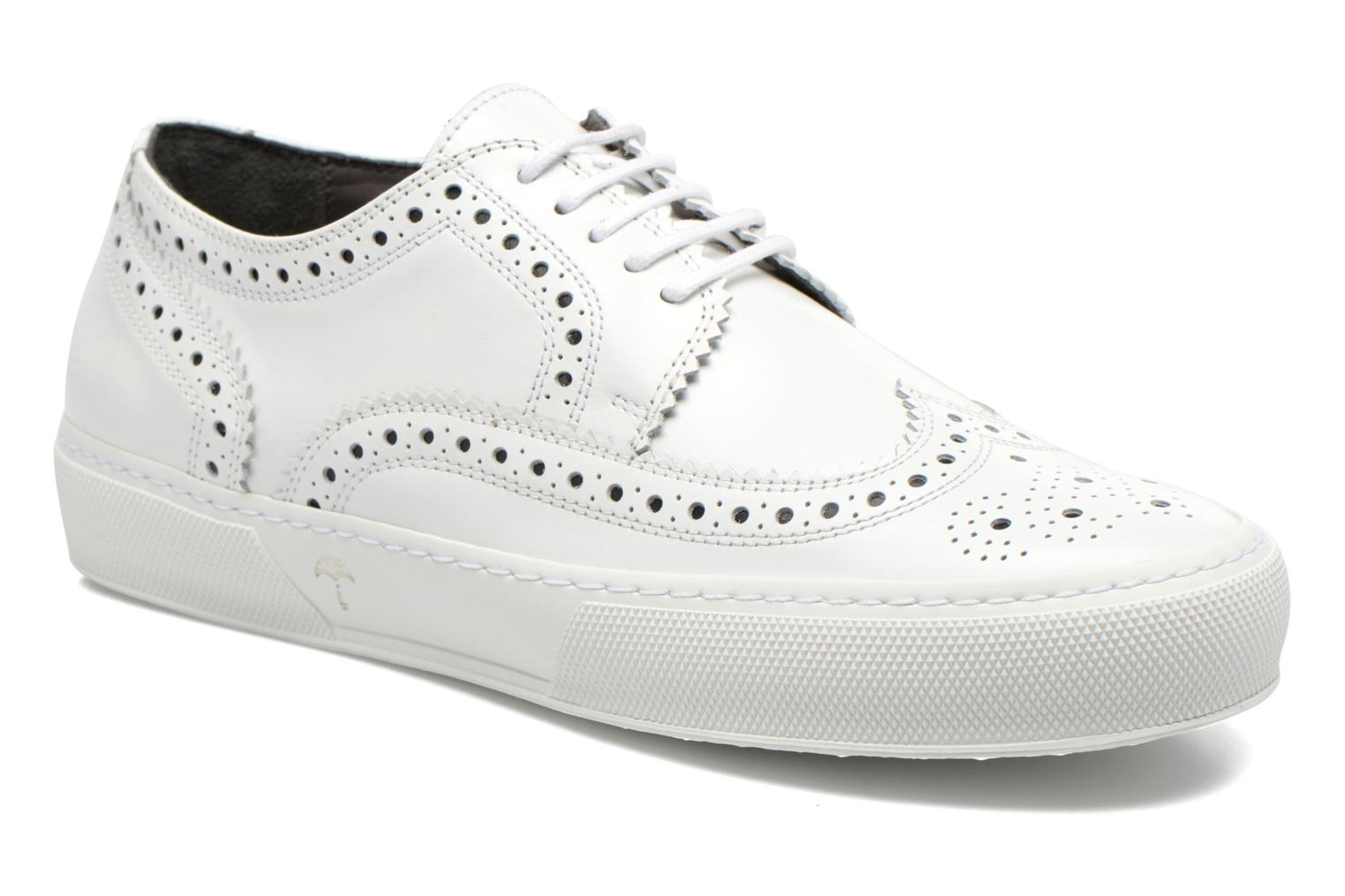 Lace-up shoes Clergerie Tolka02 White 3/4 view